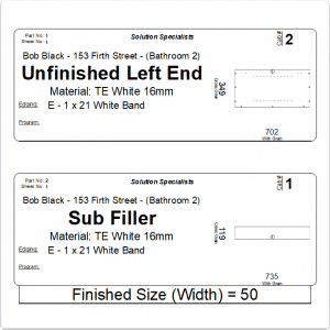2x6 Part Label